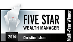 Five Star Wealth Manager 2014 award for Christine Isham